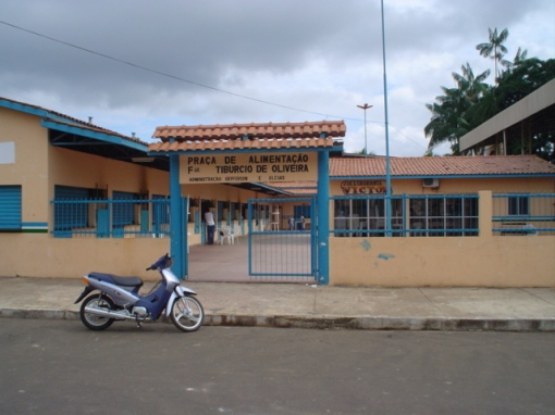 Praça de alimentação de Maraã